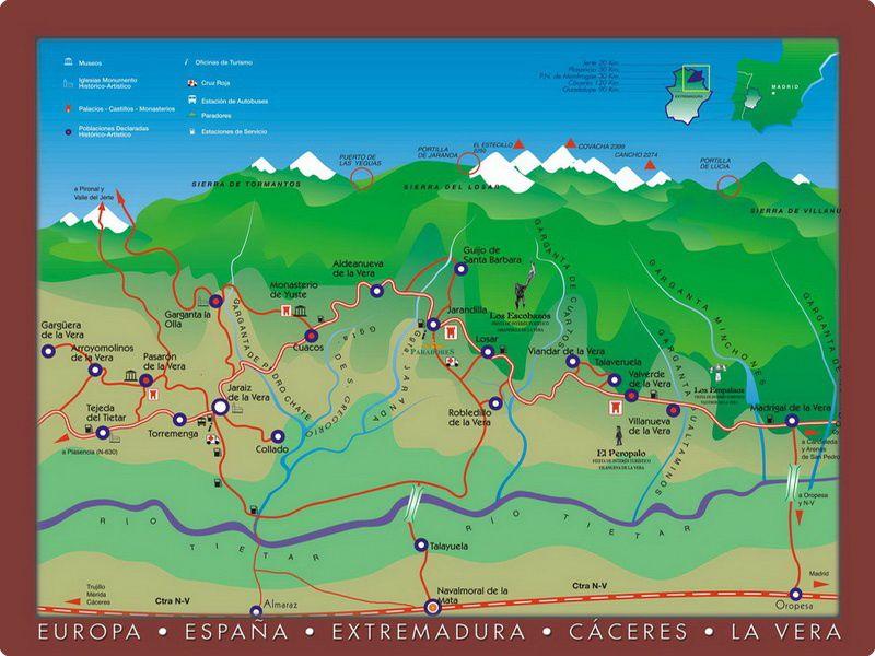 Mapa de la Vera